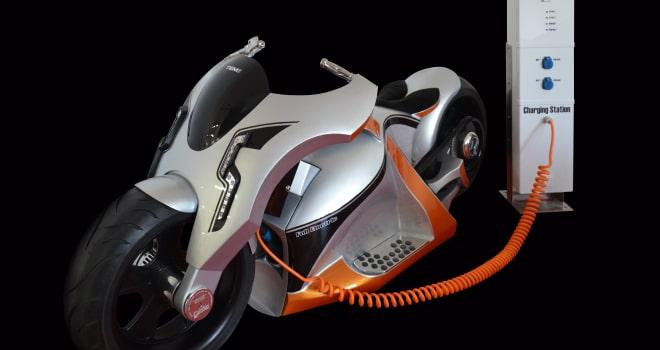 Električno motorno kolo TEM01 Showbike slovenskega proizvajalca stikal TEM